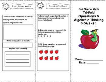 Grade 3 Common Core Math Trifold 3.OA.1