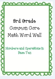 3rd Grade Common Core Math Word Wall Numbers in Base Ten