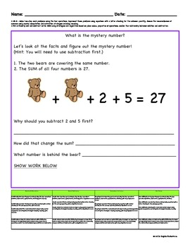 grade  common core math worksheets with rubrics by kaydes korner grade  common core math worksheets with rubrics