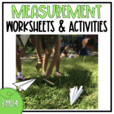 Grade 3 Common Core Measurement Worksheet {3.MD.4}