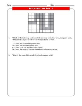 Grade 3 Common Core Math:  Measurement and Data Worksheets 3.MD.B.3 #4