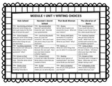 Grade 3 Common Core Module 1 Unit 1 Writing Prompts