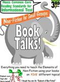 Grade 3 Non Fiction Reading Group Booktalks