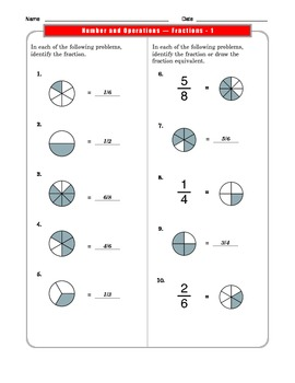 Grade 3 Common Core Math: Number and Operations/Fractions 3.NF.A.1 #2