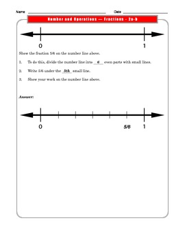 Grade 3 Common Core Math: Number and Operations/Fractions 3.NF.A.2