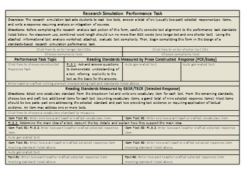 Grade 3: Common Core/PARCC Paired Text Performance Task Template