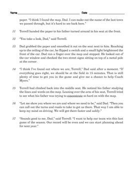 Grade 3 Common Core Reading: A Map Story