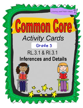 Grade 3 Common Core Reading Task Card Bundle