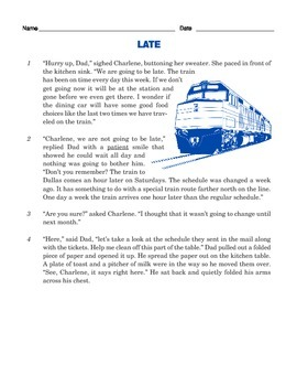 Grade 3 Common Core Reading: Two Texts about a Train Trip