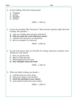 Grade 3 Common Core Reading: Webpage: How to Write a Book Report