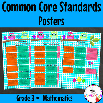 Grade 3 Common Core Standards Posters {Mathematics} Owl Theme