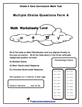 Grade 3 Common Core Test and Quiz Pack
