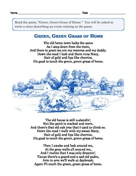 "Grade 3 Common Core Writing Prompt: Poem — ""Green Grass of Home"""