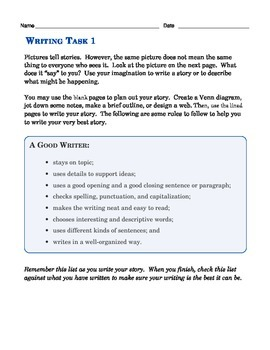 Grade 3 Common Core Writing Prompts Bundle