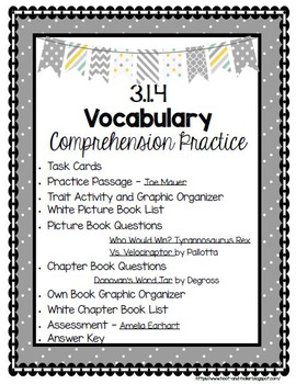 Grade 3 Comprehension -3.I.4 Vocabulary - White