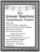 Grade 3 Comprehension -3.L.1 Ask and Answer Questions- White