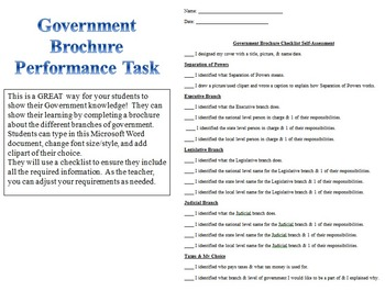 Grade 3 Create a Brochure About Government!