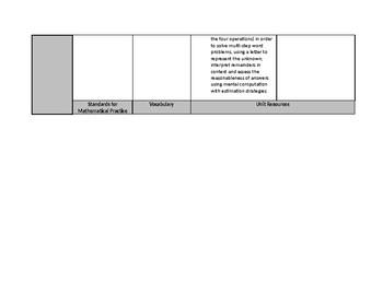 Grade 4 Math Curriculum Map Based on NJDOE Curriculum Framework