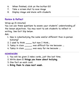 Grade 3 Cyberbullying Unit Lesson 1