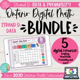 Grade 3 DIGITAL math BUNDLE  2020 Ontario Strand D: Data &