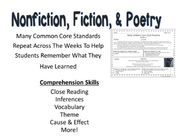 Grade 3 Daily Common Core Reading Practice Weeks 1 20 Tpt