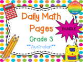 Grade 3 Daily Math Bundle Australian