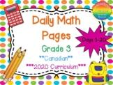 Grade 3 Daily Math Days 1-20