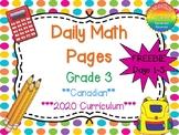 Grade 3 Daily Math Days 1-5 Freebie