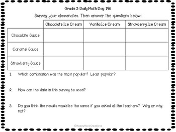 Grade 3 Daily Math Days 141-160