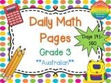 Grade 3 Daily Math Days 141-160 Australian