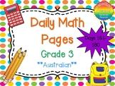 Grade 3 Daily Math Days 161-180 Australian