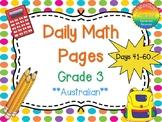 Grade 3 Daily Math Days 41-60 Australian