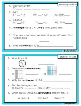 Grade 3 Daily Math Morning Work Canada (11-20)