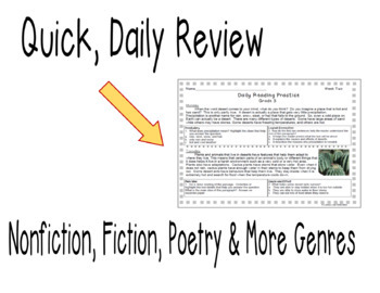 Grade 3 Daily Reading Practice (Weeks 1-10)