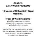 Grade 3 Daily Word Problems (SPIRAL) Pt.1
