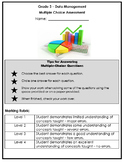 Grade 3 - Data Management & Probability Multiple Choice Assessment