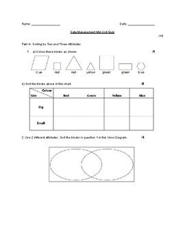 Grade 3 Data Management Quiz