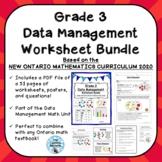 Grade 3 Data Management Worksheet Bundle ONTARIO MATHEMATI
