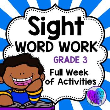 Sight Word Work Grade 3