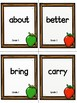 Grade 3 Dolch Sight Word Flashcards Apple theme