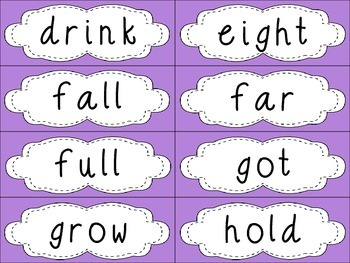 Grade 3 Dolch Sight Words {Purple} - for word walls and games