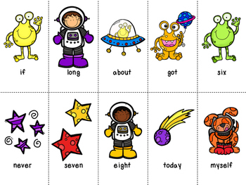 Grade 3 Dolch Word Game - Space Themed