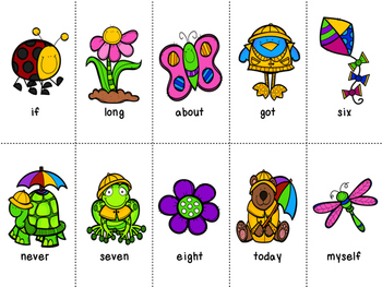 Grade 3 Dolch Word Game - Spring Themed