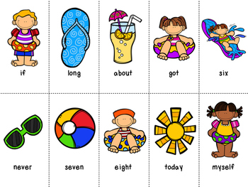 Grade 3 Dolch Word Game - Summer Themed