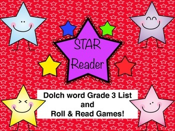 Grade 3 Dolch Word Roll and Read