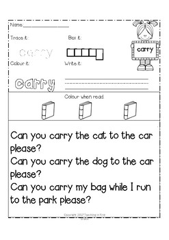 Grade 3 Dolch Words (Sight Words, Spelling Words, Fluency, Word Work)