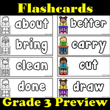 Grade 3 Dolch Words: Word Wall: Word Trace: Dolch Word Flashcards