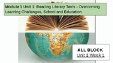Grade 3 EL - ALL BLOCK Module 1 - Units 1,2,3 - Overcoming Learning Challenges