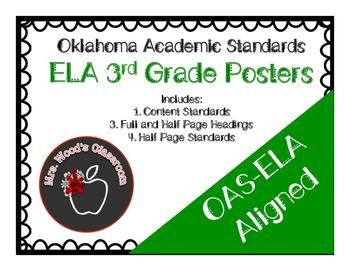 Grade 3 ELA Content Standard Posters