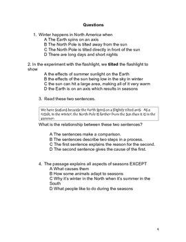 Grade 3 ELA STATE TEST PRACTICE EXAM